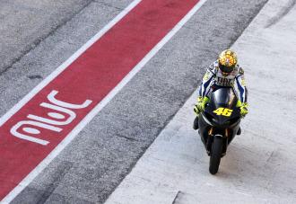 Rossi, en la prueba llevada a cabo en el circuito de Misano
