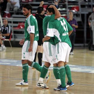 Los jugadores de Inter Movistar celebran un gol en la �ltima pretemporada