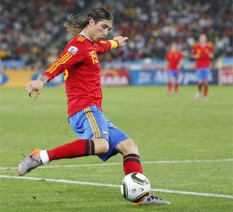 Ramos, duranteel encuentro de semifinales ante Alemania