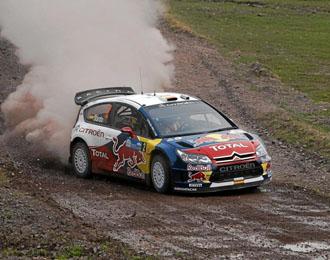 Dani Sordo en un momento de la primera etapa del Rally de Bulgaria