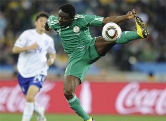 Obafemi Martins, con su selecci�n, durante el Mundial de Sud�frica