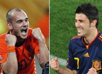 Sneijder y Villa, dos de los grandes protagonistas