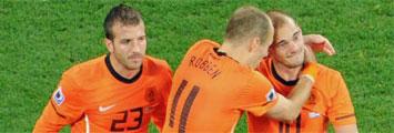 Van der Vaarte, Robben y Sneijder