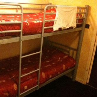 En estas camas durmieron los ciclistas de Radio Shack