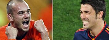 Sneijder y Villa
