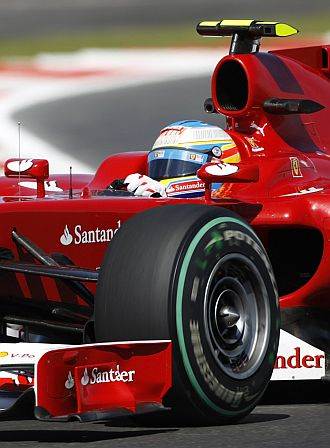 Alonso no tuvo una gran carrera en Silverstone.