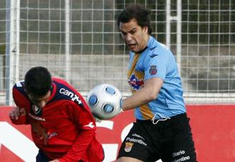 Rebollo jugando con el Palencia