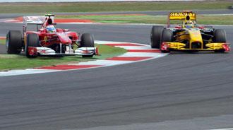 El adelantamiento de Alonso a Kubica en Silverstone releg� al espa�ol a las �ltimas posiciones tras la sanci�n