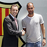 Sandro Rosell y Pep Guardiola