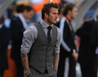 David Beckham, durante un encuentro de la selecci�n inglesa en el Mundial de Sud�frica