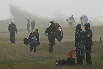 Las condiciones meteorol�gicas son p�simas en St. Andrews