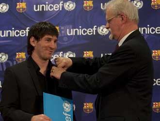 Messi es embajador de buena voluntad de UNICEF
