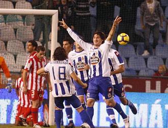 Colotto celebra un gol en un partido disputado frente al Atl�tico de Madrid