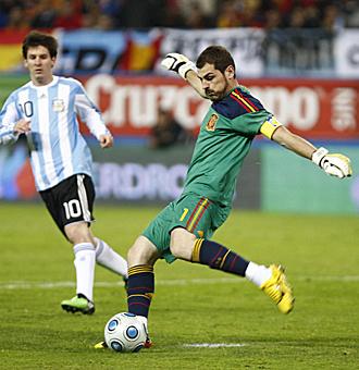 Espa�a y Argentina se enfrentaron en el Calder�n el pasado mes de noviembre.
