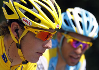 El Tour es cosa de dos. Salvo sorpresa, Contador o Andy subir�n a lo m�s alto del podio