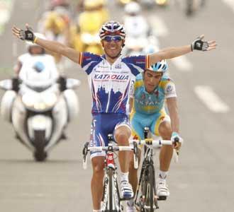 'Purito' se impuso a Contador en la llegada