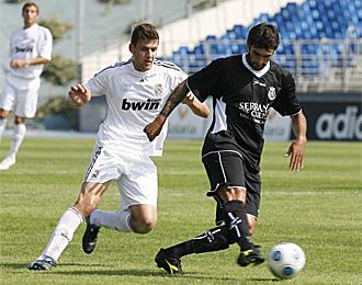 Javi Hernández, en un partido con el Conquense contra el Castilla