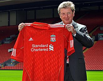 Roy Hodgson, en su presentaci�n con el Liverpool
