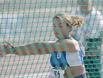 Berta Castells, en una prueba de martillo