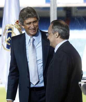 Florentino y Pellegrini el d�a de la presentaci�n del chileno