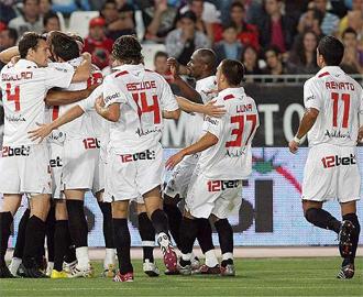Rodri hizo el decisivo 2-3 en Almer�a que signific� el pase del Sevilla a la previa de la Champions.