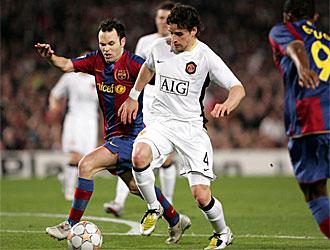 Hargreaves, en un partido contra el Barcelona