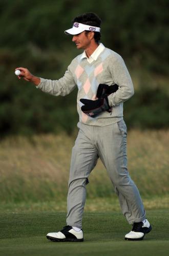 Alejandro Ca�izares es tercero en el British Open.