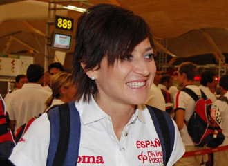 Mayte Martínez durante las olimpiadas de Pekín
