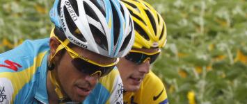 Contador y Andy Schleck