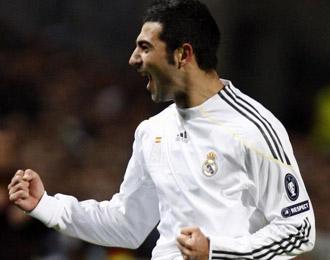 Ra�l Albiol celebrando un gol la pasada temporada con el Real Madrid