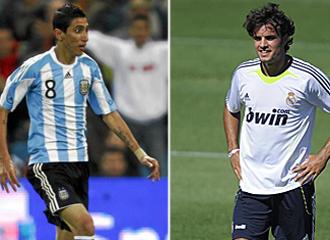Di Maria y Pedro Le�n, dos de los j�venes fichajes del Real Madrid