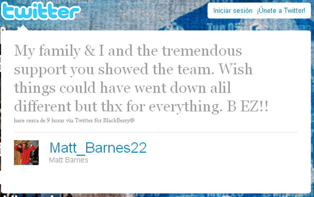 Barnes se despide de los aficionados de los Magic