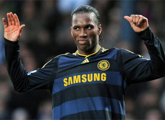 Didier Drogba, durante un partido con el Chelsea.