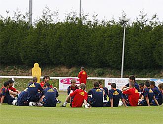 La Rojita, en su �ltimo entrenamiento antes del partido contra Portugal