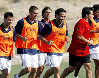 El H�rcules de Alicante se entrena en pretemporada