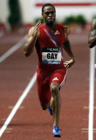 Tyson Gay, en acci�n.