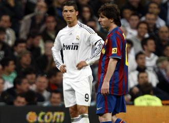 Messi y Cristiano en el cl�sico de La Liga.