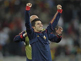 Villa celebra un triunfo en el Mundial