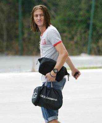 Filipe, a su salida de un entrenamiento con el Deportivo.