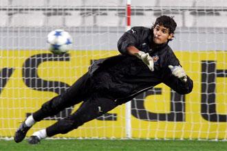Mariano Barbosa, en una imagen de archivo, en un entrenamiento con el Villarreal