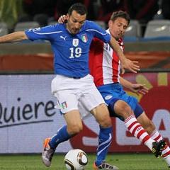 Zambrotta con Italia durante un partido del Mundial