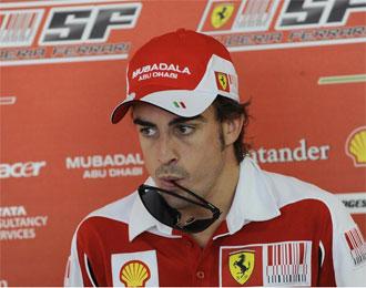 Alonso, en rueda de prensa.