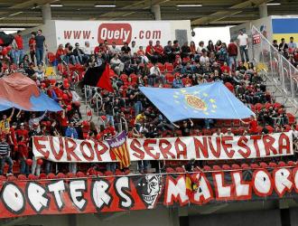 La afici�n del Mallorca en un partido de Liga.