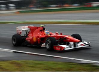 Alonso, durante los libres de Hockenheim