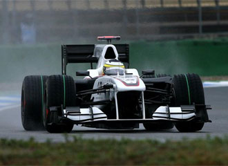 Pedro Mart�nez De La Rosa no tuvo suerte en los entrenamientos libres del GP de Alemania