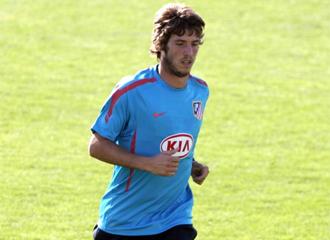Rubén Pérez, en un entrenamiento