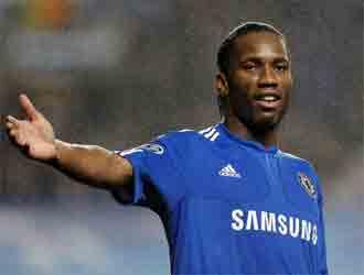 Drogba, delantero marfile�o del Chelsea