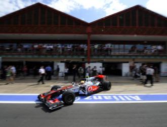 Hamilton, en el circuito de Valencia