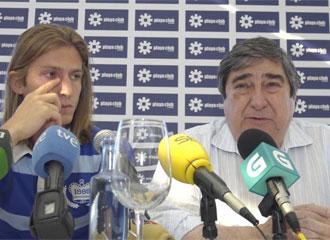 Momento de la rueda de prensa de despedida de Filipe.