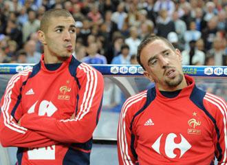 Karim Benzema y Frank Ribery, los dos implicados del caso Zahia